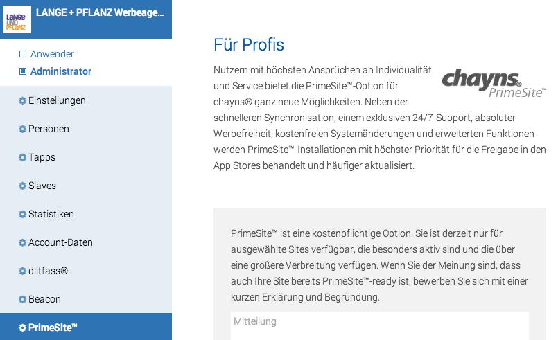 Mehr Individualität für chayns Apps mit PrimeSite
