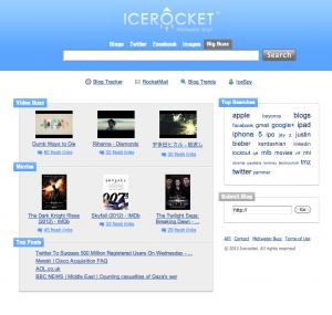 Social Media Tools: Ice Rocket - die Suchmaschine für Blogs