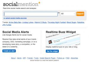 Socialmention - Suchmaschine mit Realtime Monitoring