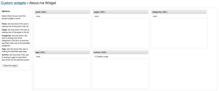WordPress: Widgets nur auf ausgewählten Seiten anzeigen