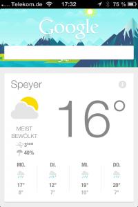 Google Now unter iOS
