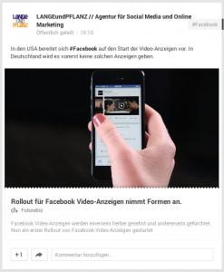 Links auf Google+ haben größere Vorschaubilder bekommen