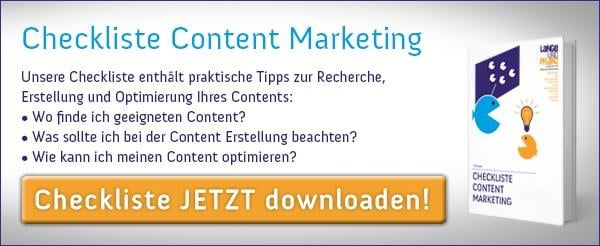 Checkliste Content Marketing