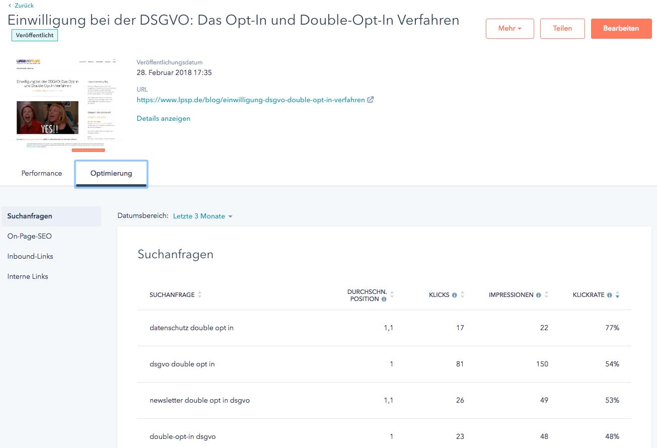 HubSpot Analytics
