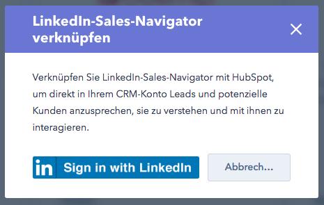 LinkedIn Sales Navigator verknüpfen