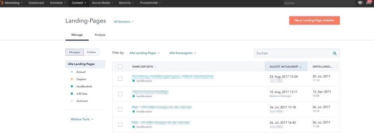 HubSpot Update neues Landing Page Design