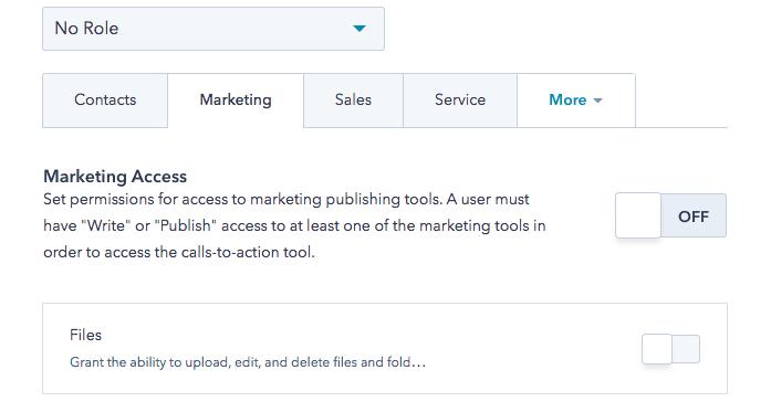 Marketing Zugriff HubSpot