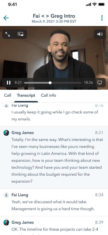 Anruf-Wiederholung HubSpot