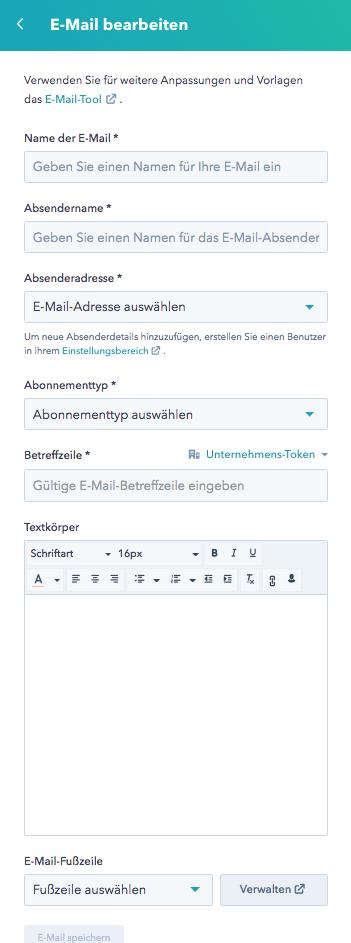 Klartext E-Mail bearbeiten