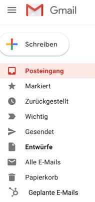 geplante E-Mails