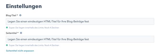 Blog-HTML ändern