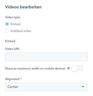 Video in Email einfügen HubSpot