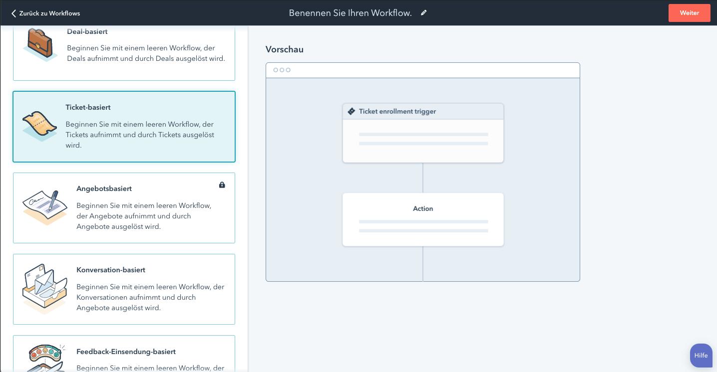 Workflow Vorlagen