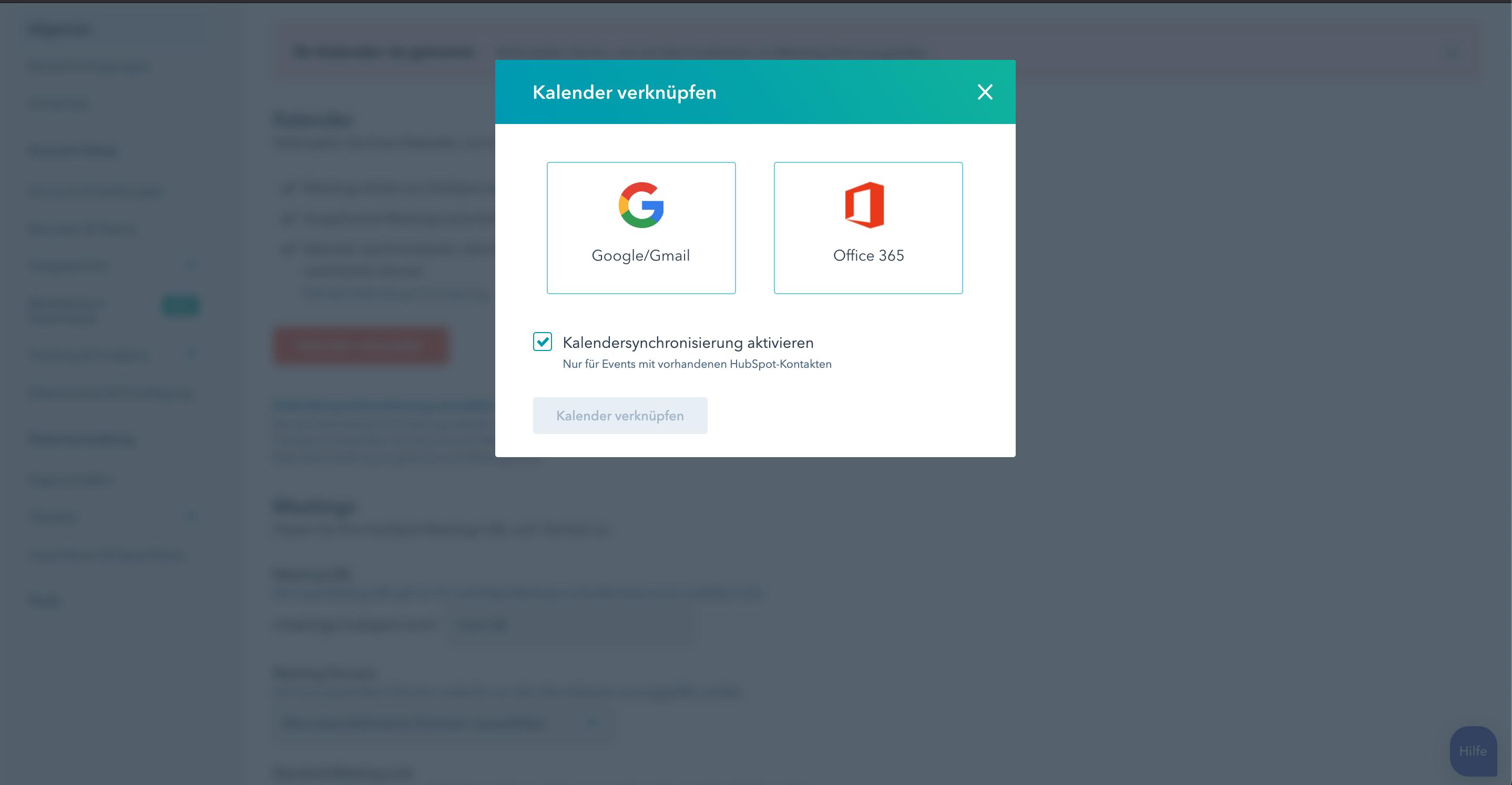 Integration Google- und Office Kalender