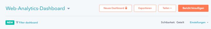 Web-Analytics-Dashboard mit Filter-Funktion