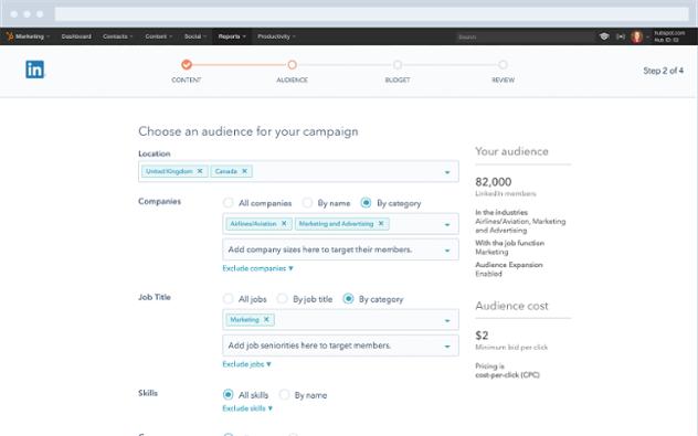 HubSpot LinkedIn Anzeigen Kampagne