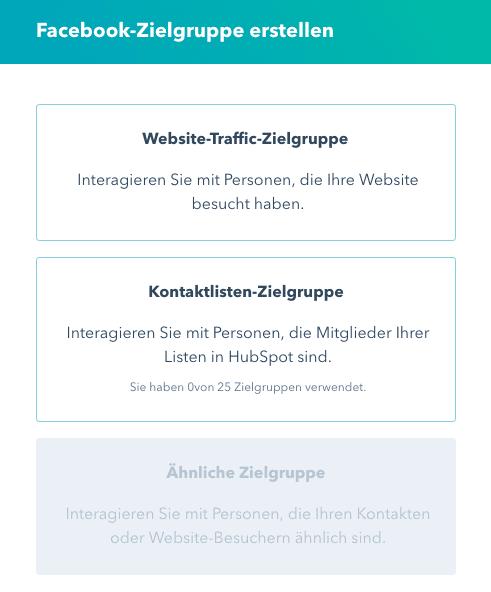 HubSpot Ads Zielgruppen