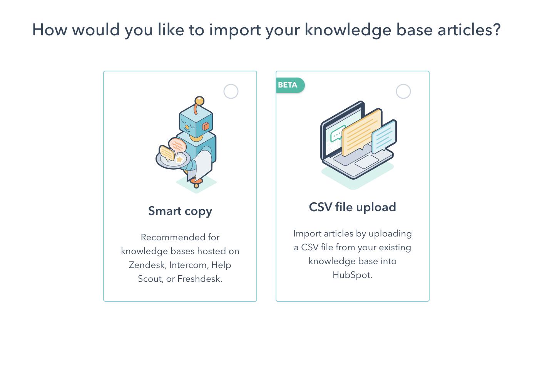 Import Export Knowledge Base HubSpot via CSV