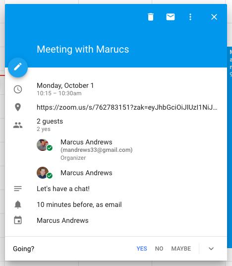 Meeting planen