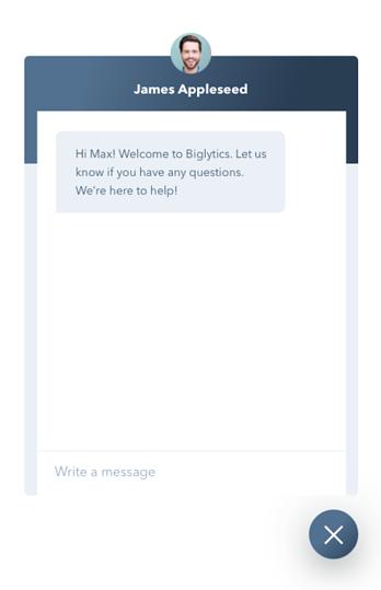Vorher: Live-Chat