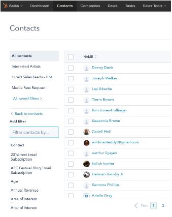 HubSpot Update Filtermöglichkeit CRM und HubSpot Marketing Filter hinzufügen vorher