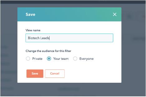 HubSpot Update Filtermöglichkeit CRM und HubSpot Marketing Filter teilen