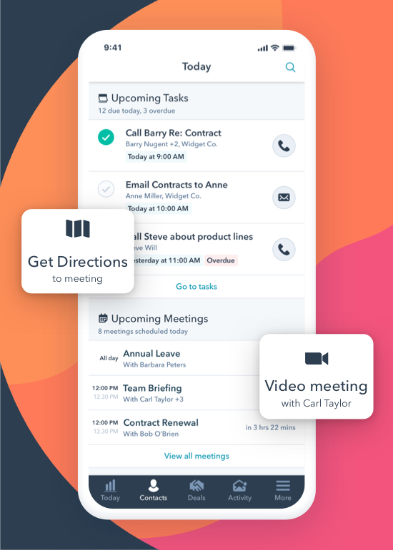 Today View Mobile App HubSpot