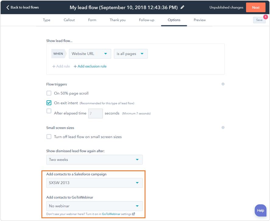 Salesforce Kampagne und GoToWebinar-Registrierung