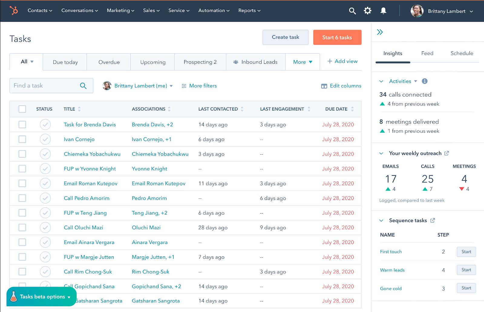 Tasks Home: Einführung in die neue Aufgaben-Homepage für Vertriebsmitarbeiter