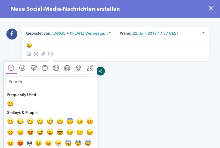 Emojis in Social Media Nachrichten