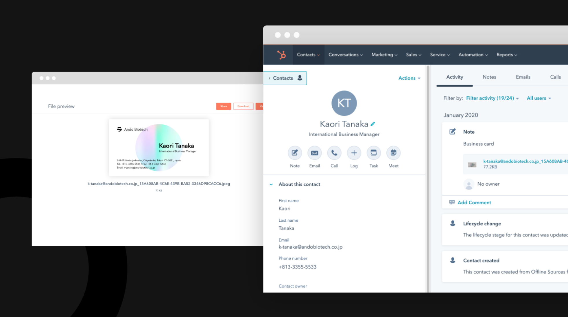 Visitenkartendaten mit der neuen App Sansan verwalten