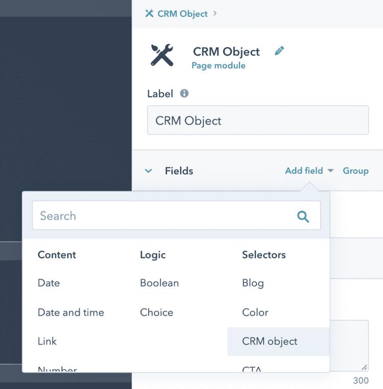 So erstellen Sie personalisierte Websites mit dem neuen CRM-Objektfeld