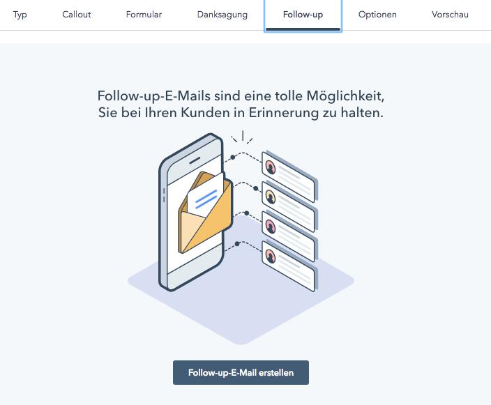 Follow-up E-Mail-Automatisierung – jetzt auch für Popup-Formulare