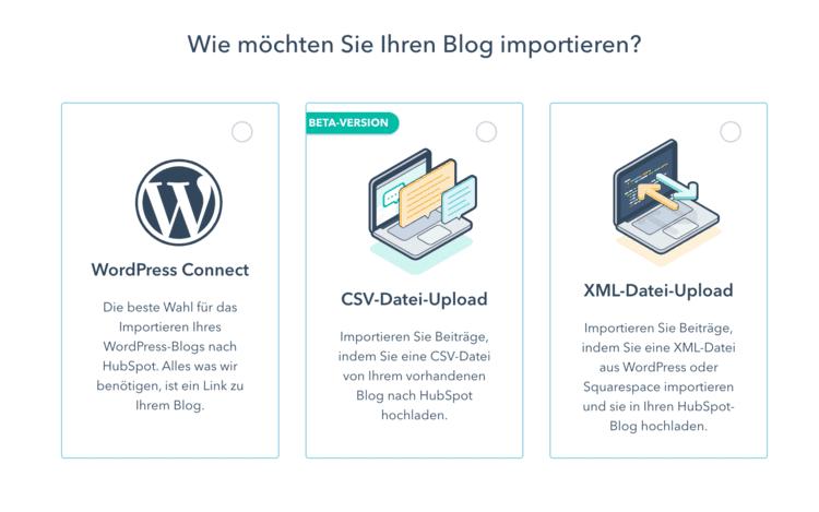 Importieren Sie Ihren Blog mit einer CSV-Datei in HubSpot