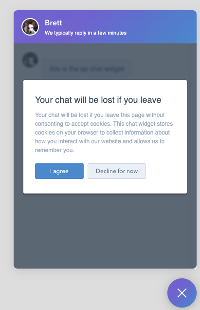 Exit-Intent-Cookie-Banner in Chatflows