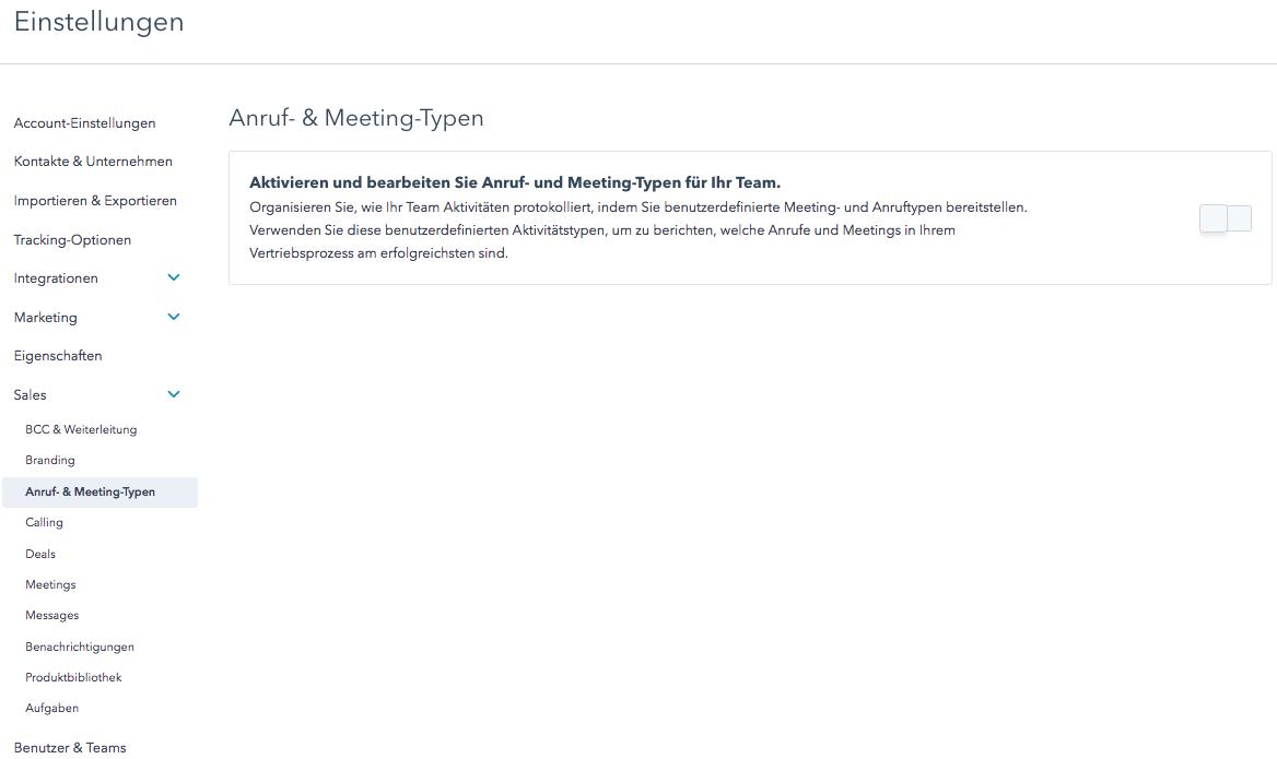 So optimieren Sie Ihre Vertriebsprozesse mit Anruf- & Meeting-Typen