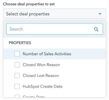 [Beta] Benutzerdefinierte Eigenschaften für Deals aus Workflows