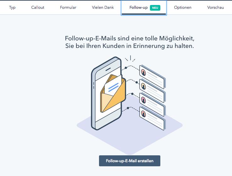 [Beta] Follow-up E-Mail jetzt auch für den Lead-Flow verfügbar