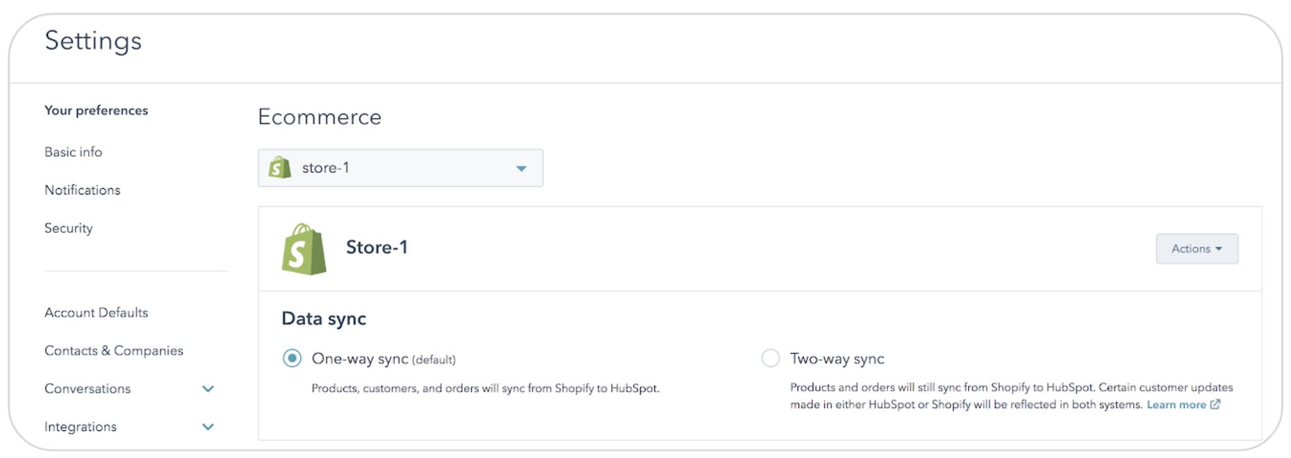 Wechselseitige Kontakt-Synchronisation zwischen HubSpot und Shopify