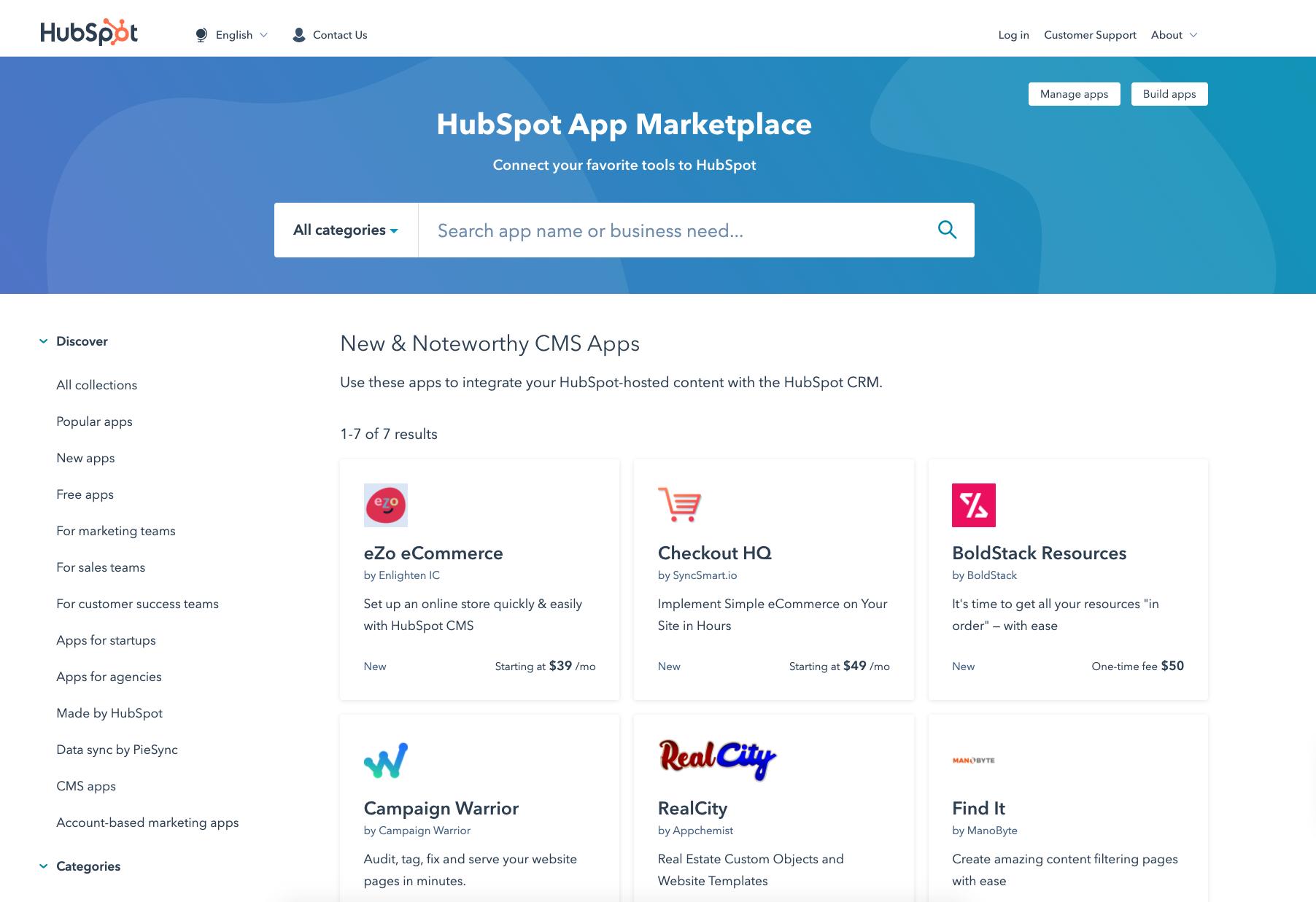 Neue CMS-Apps im App-Marketplace