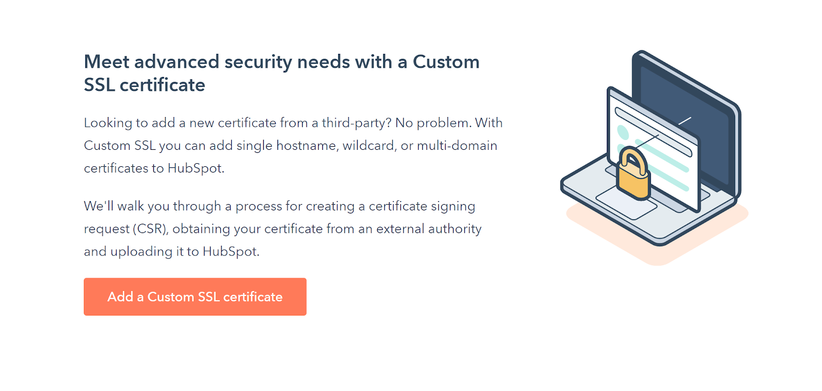 Einrichten & Verwalten Ihres benutzerdefinierten SSL-Zertifikats direkt in HubSpot