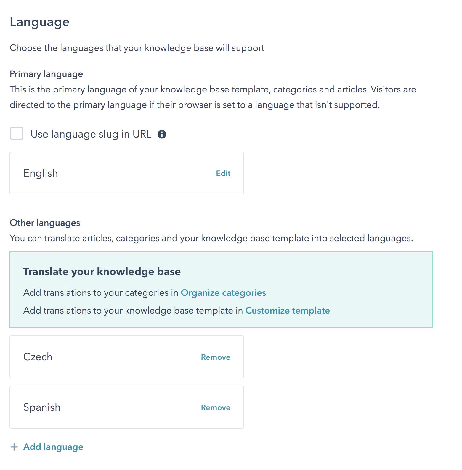 Knowledge Base nun mehrsprachig