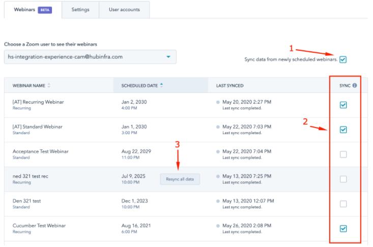 Neue Zoom-Einstellungen zum Verwalten der Synchronisation für Webinare